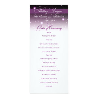 Enchanted Evening Nighttime Wedding Program 4x9.25 Paper Invitation Card