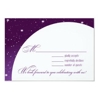 Enchanted Evening Nighttime Wedding RSVP Response Card