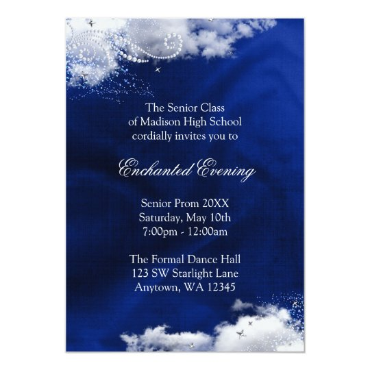 Enchanted Evening Prom Formal Invitations