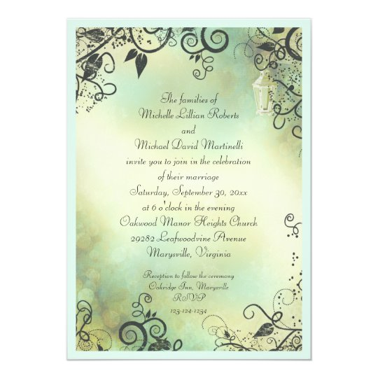 Enchanted Evening Wedding Card