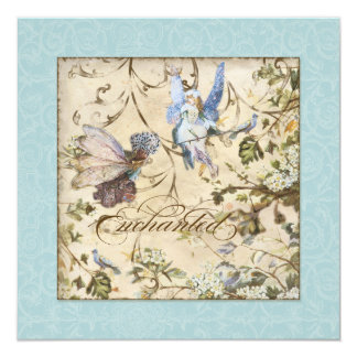 Enchanted Faeries Fairies Floral Vintage Weddings Card