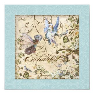 Enchanted Faeries Fairies Floral Vintage Weddings Personalized Announcement