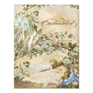Enchanted Faeries, Vintage Wedding Invitation