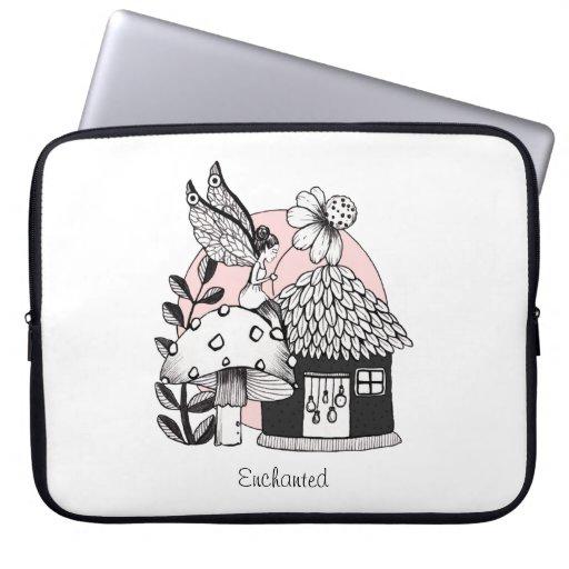 Enchanted Fairy And Fairy House Laptop Sleeve