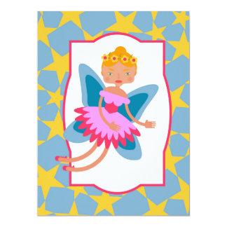 """Enchanted fairy birthday party 6.5"""" x 8.75"""" invitation card"""