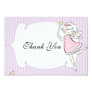 Enchanted Fairy Princess Birthday Party Tag Card