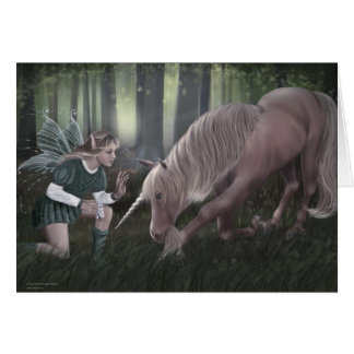 Enchanted Fairy-Unicorn Greeting Cards