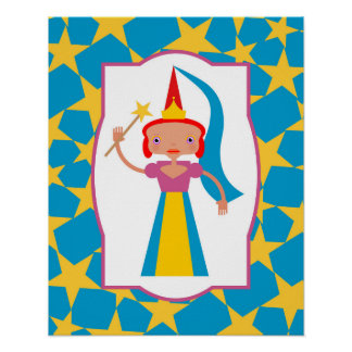 Enchanted Fairy with Magic Wand Poster