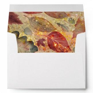 Enchanted Falling Fall Leaves Envelope
