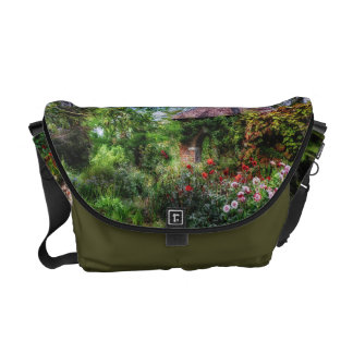 Enchanted Flower Garden Messenger Bag