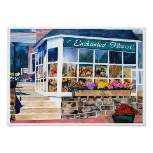 Enchanted Flower Shop Poster