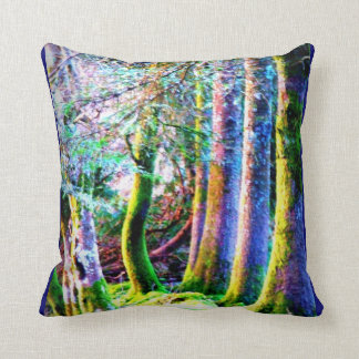 Enchanted Forest Abstract Art  American MoJo Pillo Throw Pillow