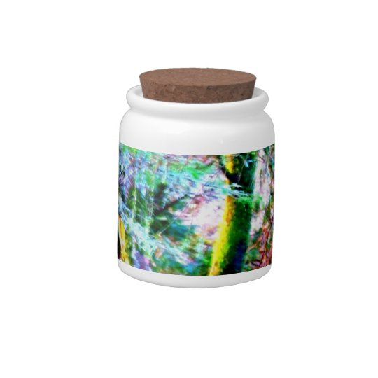 Enchanted Forest Abstract Art Candy Jar
