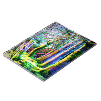 Enchanted Forest Abstract Art Notebook