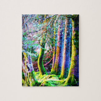 Enchanted Forest Abstract Art Puzzle