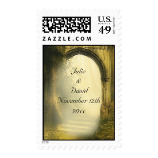 Enchanted Forest Arch Save The Date Postage