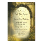 Enchanted Forest Arch Wedding 5x7 Paper Invitation Card