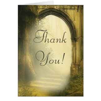 Enchanted Forest Arch Wedding Thank You Card