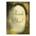 Enchanted Forest Arch Wedding Thank You Stationery Note Card