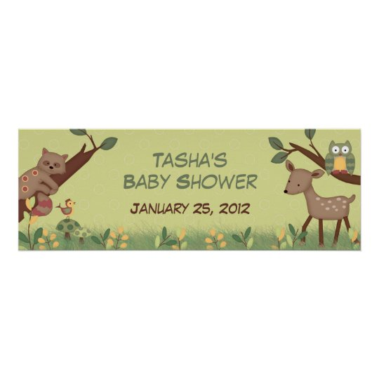 Enchanted Forest Baby Shower Banner Poster