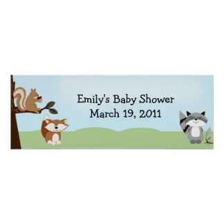 Enchanted Forest Baby Shower /  Birthday Banner Poster