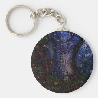 Enchanted Forest Basic Round Button Keychain