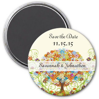 Enchanted Forest Circle of Love Wedding Tree Magnet