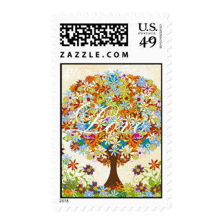 Enchanted Forest Circle of Love Wedding Tree Postage