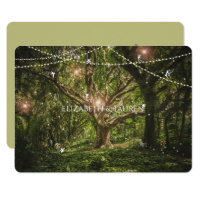 Enchanted Forest, Fairies, Wedding Invitation