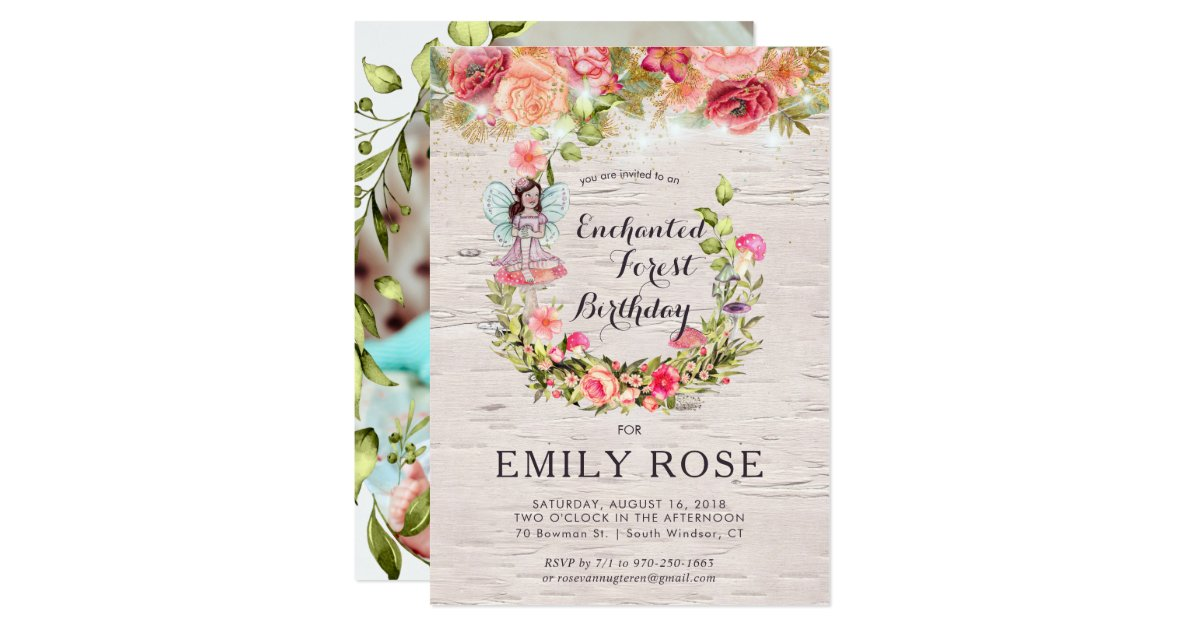 Enchanted Forest Themed Wedding Invitations: Enchanted Forest Fairy Birthday Invitation