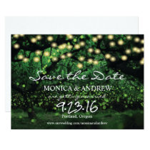 Enchanted Forest Fairy Lights Save the Date Invitation