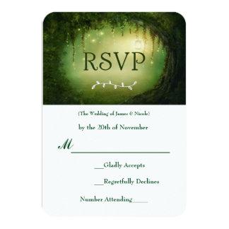 Enchanted Forest Green Wedding RSVP Response Card