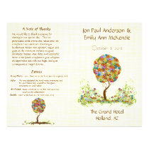 Enchanted Forest Patchwork Floral Fairy Tale Tree Flyer