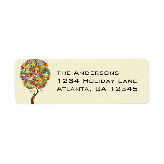 Enchanted Forest Patchwork Floral Fairy Tale Tree Label