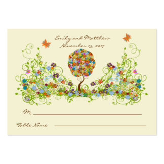 Enchanted Forest Patchwork Floral Fairy Tale Tree Large Business Card