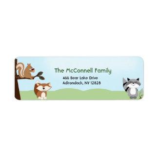 Enchanted Forest PRINTABLE ADDRESS LABELS