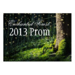 Enchanted Forest Prom Tickets - Invitations Business Card Template