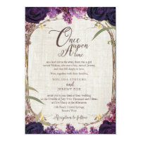 Enchanted Forest Purple Wedding Invitation Card