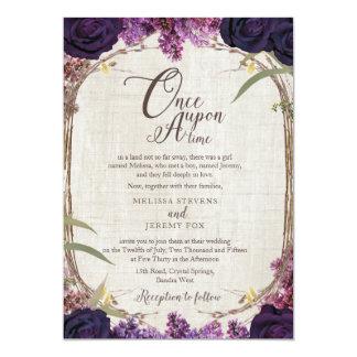 Enchanted Forest Purple Wedding Invitation Card