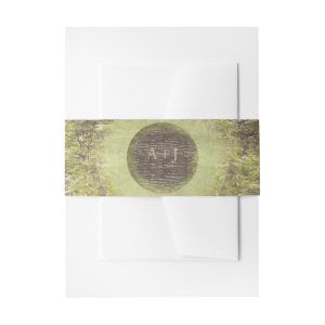 Enchanted Forest Rustic Trees Woodland Wedding Invitation Belly Band