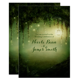 Enchanted Forest Rustic Wedding Invitations