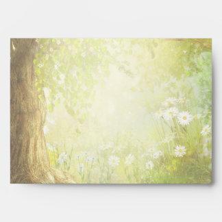 Enchanted Forest Scene Envelope