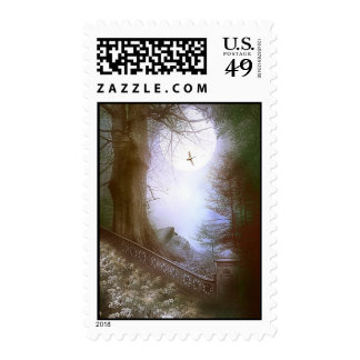 Enchanted Forest Scene Postage