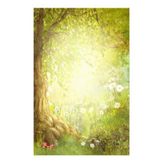 Enchanted Forest Scene Stationery