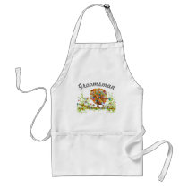 Enchanted Forest Side Branch Wedding Adult Apron