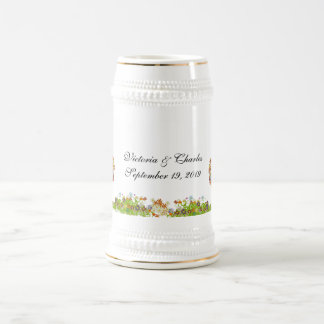 Enchanted Forest Side Branch Wedding Beer Stein