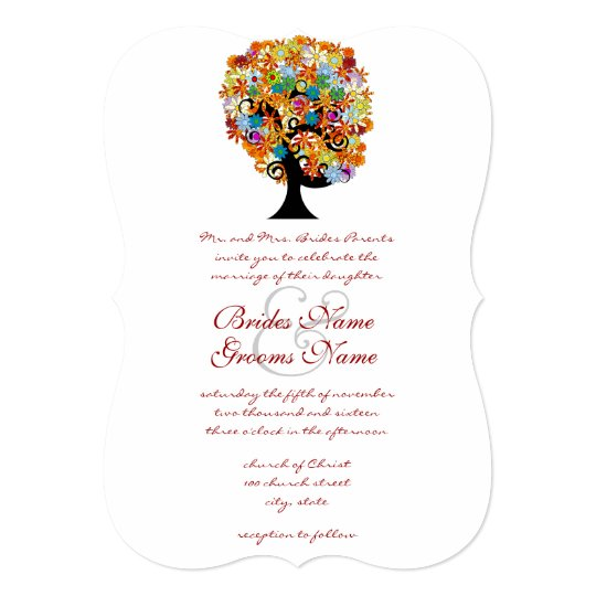 Enchanted Forest Side Branch Wedding Invitations