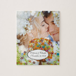 Enchanted Forest Side Branch Wedding Jigsaw Puzzle