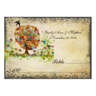 Enchanted Forest Side Branch Wedding Large Business Card