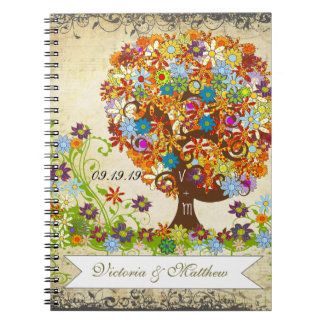 Enchanted Forest Side Branch Wedding Notebook